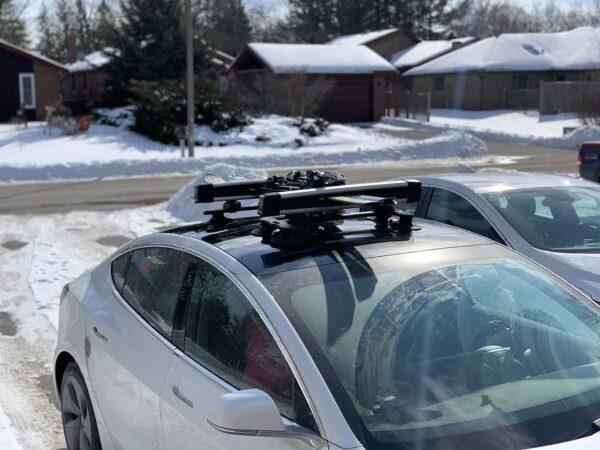 Autres Porte ski/snowboard SEASUCKER à Ventouse pour Model S, 3, X, Y et Roadster