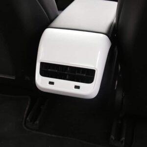 Intérieur Insert console centrale arrière en ABS pour Tesla Model 3 aération