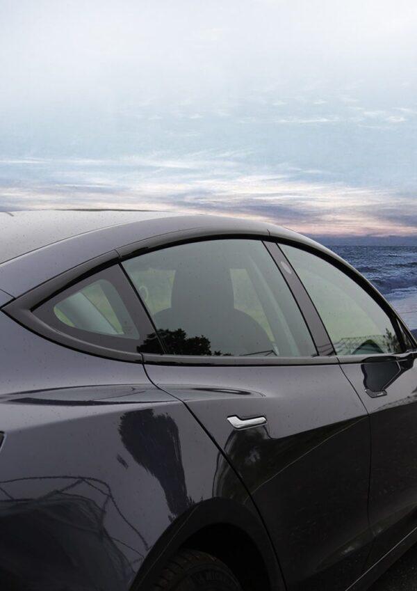 Extérieur Chrome delete mat ou brillant pour Tesla Model 3 chrome