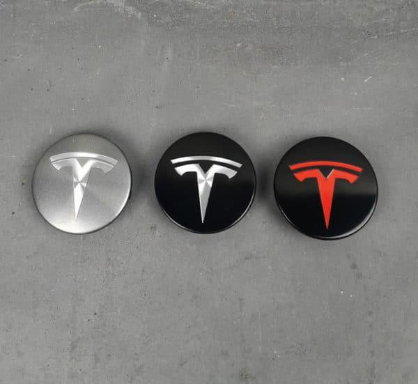Autre Pack 4 Centres de roues pour Tesla Model S, 3, X, Y
