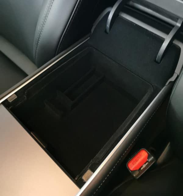 Intérieur Boite de rangement sous accoudoir pour Tesla Model 3 2021 accoudoir