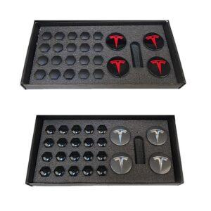 Model 3 Kit centres de roues avec caches écrous Tesla caches ecrous