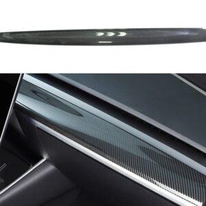 Fibre de carbone Couvre planche de bord véritable carbone pour Tesla Model 3 & Y bord