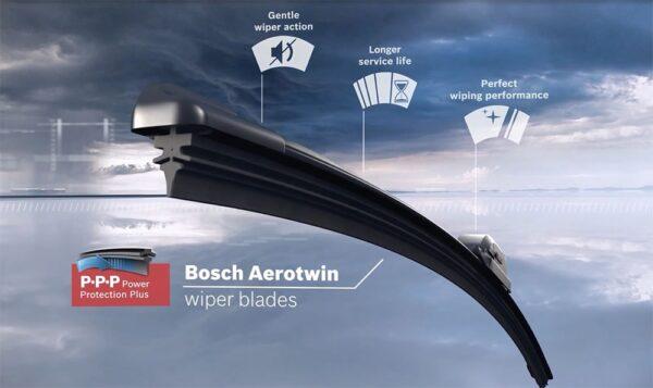 Extérieur Pack de 2 Essuie-glaces BOSCH ultra-plats Aerotwin pour Tesla Model S, 3, X et Roadster balaie