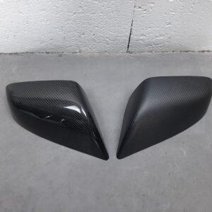 Fibre de carbone Coques de rétroviseur en véritable Carbone Model S brillant