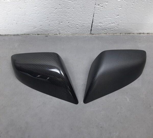 Extérieur Coques de rétroviseur en véritable Carbone Model S brillant
