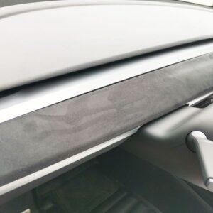 Intérieur Insert planche de bord aspect alcantara pour model 3 & Y alcantara