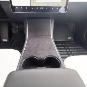 Model 3 Couvre console centrale aspect alcantara pour model 3 & Y alcantara