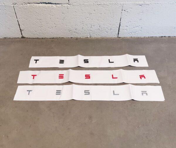Extérieur Emblèmes Logo T-E-S-L-A style Roadster emblème