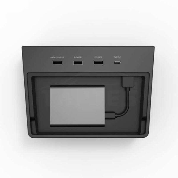 Intérieur Hub pour dissimuler votre Clé USB ou votre SSD pour Tesla Model 3 hub