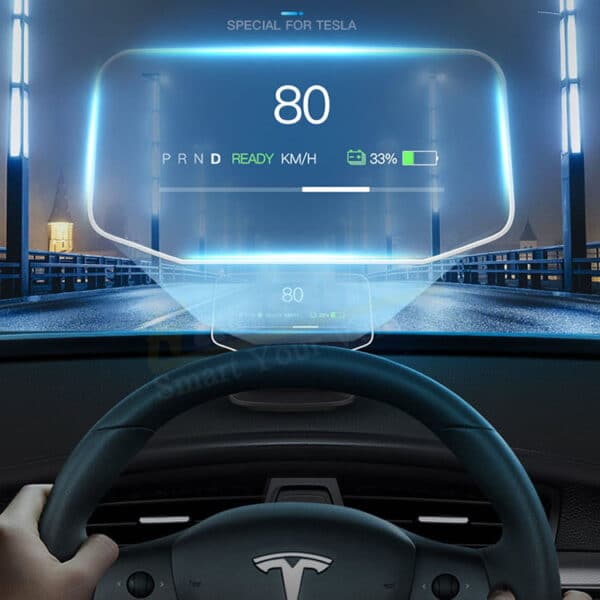 Extérieur Affichage Tête Haute pour Tesla Model 3 HANSSHOW affichage