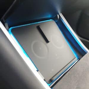 Model 3 Chargeur induction rétroéclairé en bleu pour Tesla model 3 10 w