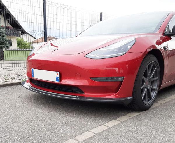 Extérieur Lame de par choc avant pour Tesla Model 3 [tag]