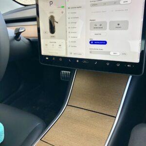 Intérieur Covering aspect Bois ou noir mat console centrale pour Tesla Model 3 3M