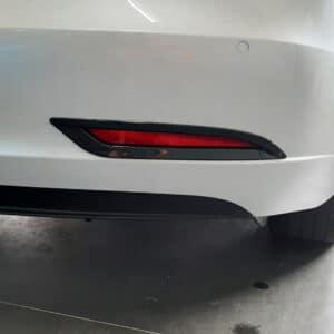 Extérieur Insert décoratif antibrouillard arrière aspect carbone pour Tesla Model 3 [tag]