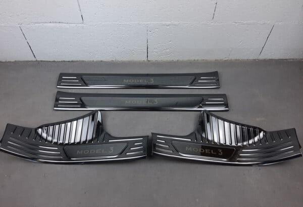 Intérieur Protections des seuils de portes en métal pour Tesla Model 3 metal