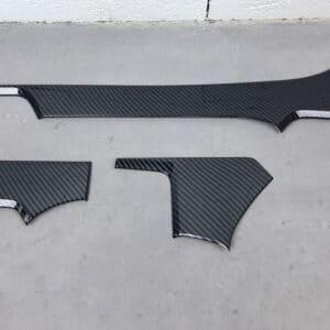 Model S Insert pour planche de bord aspect carbone en ABS pour Tesla Model S abs
