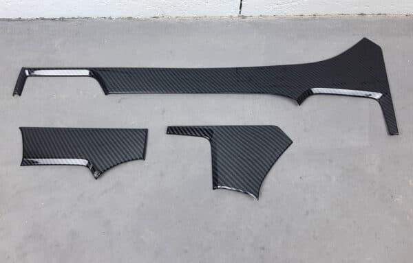 Intérieur Insert pour planche de bord aspect carbone en ABS pour Tesla Model S abs