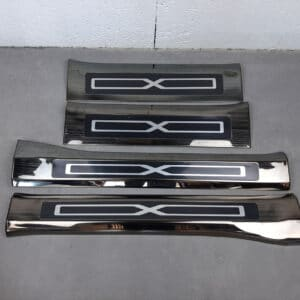 Intérieur Protections de seuil de porte en métal noir pour Tesla Model X metal