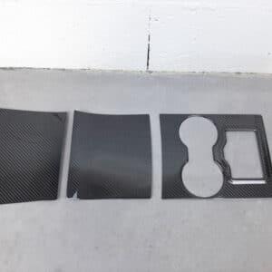 Intérieur Couvre console centrale véritable carbone pour Tesla Model 3 carbone