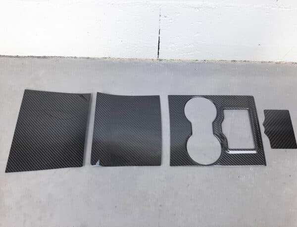 Fibre de carbone Couvre console centrale véritable fibre de carbone pour Tesla Model 3 carbone