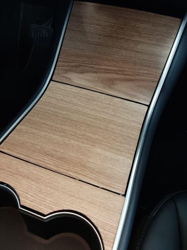 Intérieur Covering aspect Bois pour console centrale pour Tesla Model 3 3M