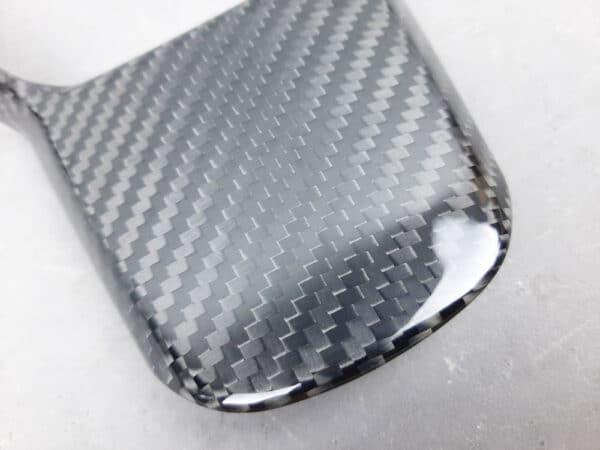 Fibre de carbone Couvre volant mono-pièce en carbone pour Tesla Model 3 & Y brillant