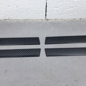 Extérieur Couvres poignées aspect carbone Tesla Model X abs