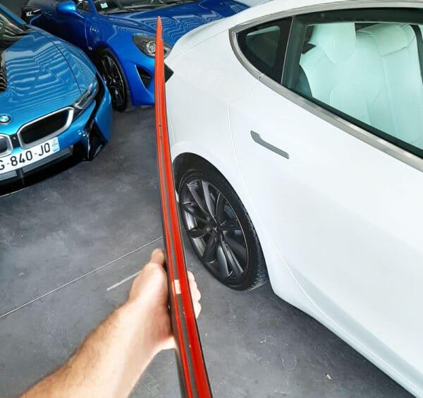 """Fibre de carbone Becquet arrière en véritable carbone """"style Performance"""" Tesla Model 3 aileron"""