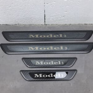 Intérieur Seuils de portes en métal pour Tesla Model 3 metal