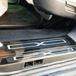 Model X Protections de seuils de portes en métal noir pour Tesla Model X metal