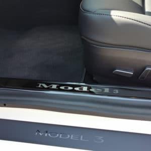 Promotions Protections des seuils de portes en métal pour Tesla Model 3 metal