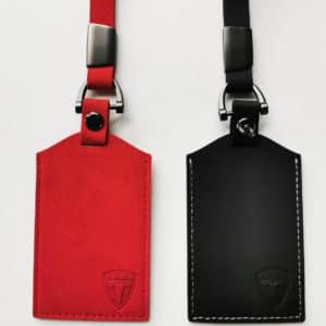 Model 3 Porte carte aspect cuir ou alcantara alcantara