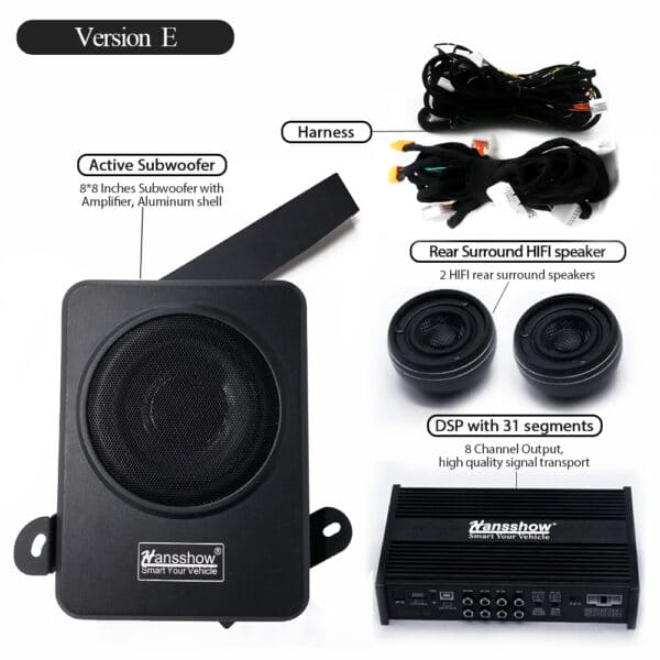 Intérieur Kits amélioration sound système Tesla model 3 SR+