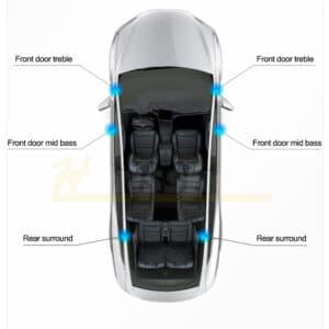 Non classé Kits audio Hansshow sound système pour Tesla model 3 SR+ 2017 à 2020 et 2021