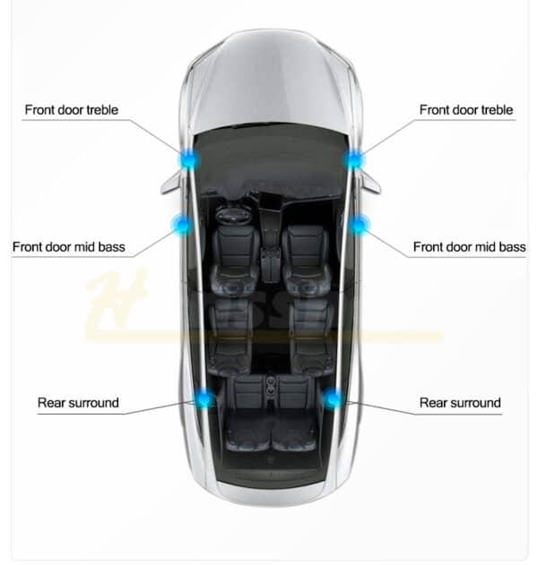 Intérieur Kits audio Hansshow sound système pour Tesla model 3 SR+ 2017 à 2020 et 2021