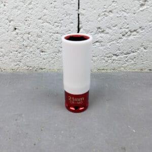 Model 3 Douille Paroi Extra Fine avec Jupe Plastique de Protection 21mm ou 19mm pour Écrous de Roues.