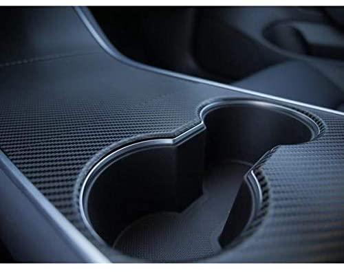 Intérieur Covering aspect carbone ou noir mat pour la console centrale pour Tesla Model 3 3M