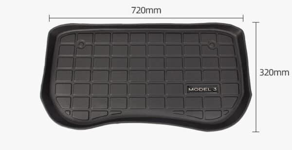 Intérieur Tapis 3D TPE coffre avant pour Tesla Model 3 2021 (Modèles après août 2020) 3d