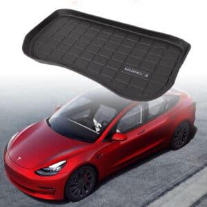 Model 3 2021 Tapis 3D TPE coffre avant pour Tesla Model 3 2021 (Modèles après août 2020) 3d